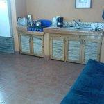 Mr. Bing's kitchen (futon in foreground)