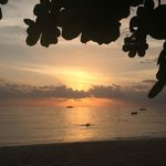Sunsets on beach