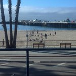 view from the balcony onto volleyball court