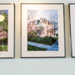 Local photography, seasonally rotated, graces the walls.