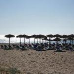 Strand - Liegen und Sonnenschirme inclusive