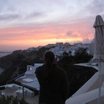 Sunset over Oia from room deck