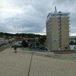 Blick aus dem 3 .Stock auf das Rügen Hotel