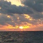 Sunrise at 6:07 on the beach