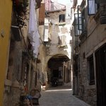 Typical street in old town Rovinj