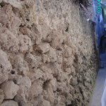 Lamu alley with coral stone wall