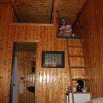 Caitlyn enjoying her loft.