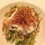 brussel sprout salad with egg