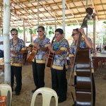 Roaming musicians at Paradise Island