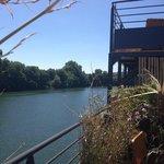 La super vue sur la Seine et l'ile Saint Germain
