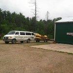 Van and rafts