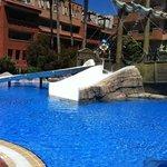 Kid's pool with slide.