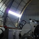 Opening of the dome for the Schulman Telescope