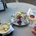 Clam chowder and oyster feast