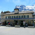 The Grindelwald train station.