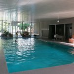 The Belvedere hotel indoor pool.