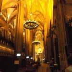 Barcelona, España, Catedral de Santa Eulàlia. Cielo en crucería.