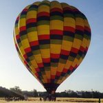 Arriving at our balloon.