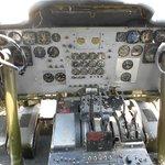 Cockpit of the Boeing KC-97 tanker.