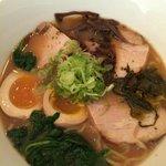 Ani Ramen w/ a slow poached egg and kakuni (pork belly.)