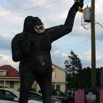 Gorilla outside the diner