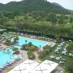 Vista delle piscine dal terrazzo