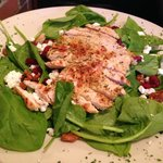 Spinach, Chicken & Goat Cheese Salad @ Mangia Mangia Italian Kitche, 430 Boston Rd, Billerica, M