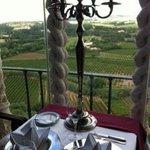 Vista do restaurante do Castelo