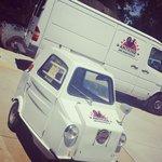 Van and mini car.