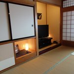 The rooms are authentic, with Tatami mats and paper sliding doors / walls