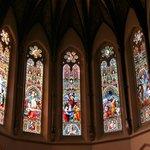 Upper windows in apse