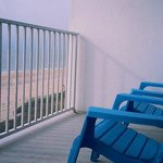 Balcony overlooking the ocean
