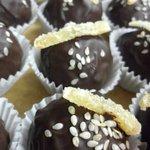 Dark chocolate ginger truffle!!!