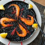 Paella de Arroz Negro (Squid Ink Paella)