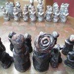 Juego de ajedrez. Artesanía