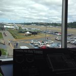 Set up of a control tower and actually viewing the airport! Kids were having a blast pretending