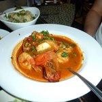 prato do dia - jambalaya lobster shrimp