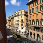 View of Via Nazionale from our 3rd floor room