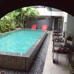 pool dining and chill out area