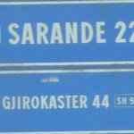 road sign by the blue eye