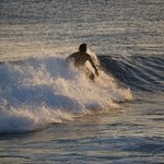 Sunset Surfer with Sony 55-210 Zoom Lens