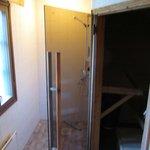 Sauna with showers
