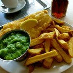 Perfect fish and chips!