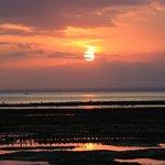 Sunset toward Bali
