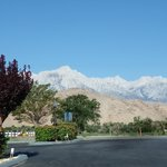 View from the hotel to the Sierra Nevada