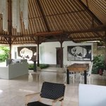 Living room & outside of Kayu villa