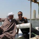 Ahmed und unser Kapitän bei der Nilfahrt