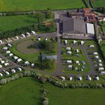 Aerial photo of York Caravan Park, taken in May 2014