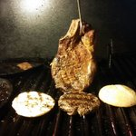 Smoking a Rib Steak