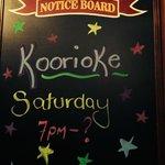 Koorioke in the bar area